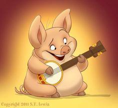 Pig Character, Character Drawing, Character Design, Pig Drawing, Dachshund, Pig Art, Barnyard Animals, Cartoon Sketches, Golden Retriever