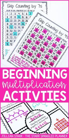 10 Fun Games and Activities to introduce multiplication! Teach students to build fluency, practice strategies hands on, and ultimately memorize their multiplication facts! Perfect for any and grade classroom! Maths 3e, Math Multiplication Games, Math Fractions, Third Grade Math, 4th Grade Math Games, 3rd Grade Activities, Grade 2, Math Intervention, Homeschool Math