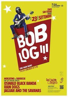 Bob Log III gig poster (Catania, Italy / Sep 23, 2013