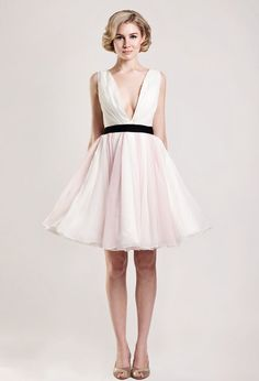 maybe a little too cutesy? but something about it is really great. maybe because it looks so comfy! sweet short wedding dress
