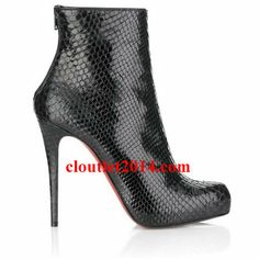 Discount Christian Louboutin Booties Arielle A Talon Black