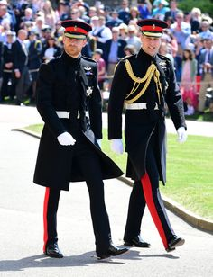Prince Harry walks with his best man Prince William, Duke of Cambridge, as they arrive at St George's Chapel at Windsor Castle for the wedding of Prince Harry and Meghan Markle in Windsor, England - May 19, 2018