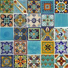Mixed talavera 25 tiles $51.04 Tierra Y Fuego, San Diego, CA