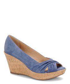 This Söfft Iris Blue Olwen Suede Wedge by Söfft is perfect! #zulilyfinds