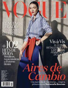 Mariacarla Boscono on Vogue Mexico Magazine March 2016 Cover