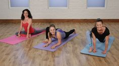 Yoga Fitness Flow - Working your way to the splits, often regarded as the ultimate feat of flexibility, takes time. - Get Your Sexiest Body Ever! Cheer Workouts, Toning Workouts, At Home Workouts, 5 Minute Yoga, 10 Minute Workout, Pole Fitness, Fitness Tips, Health Fitness, Yoga Videos