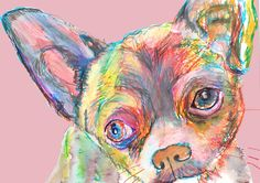 Chihuahua, Chihuahua lover gift, Chihuahua mom gift, Chihuahua print,dog Portrait, wall art print, colorful abstract… #dogs #pets #puppy