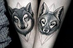 parejas animales tatuaje - Buscar con Google