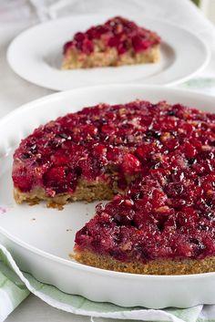 Cranberry Upside-Down Cake #recipe #dessert #cake