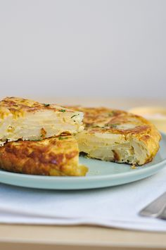 Tortilla Española/Spanish PotatoOmelette. Why, we had this for donner just tonight!