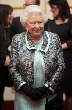 Queen Elizabeth II attends a reception to mark the 80th anniversary of Diabetes UK, at St James's Palace on 17.02.2015 in London, England.
