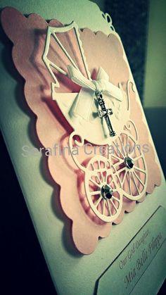 Handmade baptism card #cards #girls #crafts #handmade