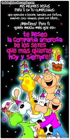 Te deseo un feliz cumpleaños - Continue reading → Spanish Birthday Wishes, Happy Birthday Wishes, Friend Birthday, Birthday Greetings, Birthday Quotes For Him, Happy Birthday Images, Happy B Day, Birthdays, Humor