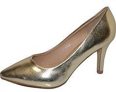 Damen Pumps Spitze Pastell High Heels Schuhe Lack Glitzer Elegant Peep-Toes Hochzeit Größe 37, Farbe Gold - http://on-line-kaufen.de/elara/37-eu-damen-pumps-spitze-high-heels-stiletto-lack-8