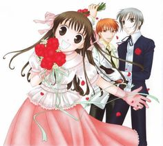 fruits basket~Kyo,Tohru,and Yuki