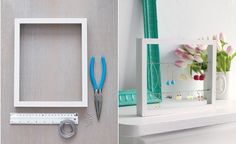make your own earring organizer. You could probably also use an old picture frame where the glass had been broken.
