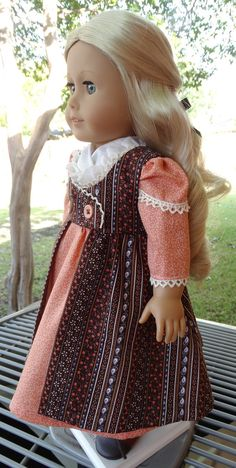 18 Doll Clothes Historical Regency Style Gown by Designed4Dolls. $29.95.