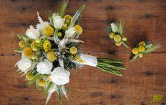 Ramo Novia silvestre en amarillo blanco Mayula Flores