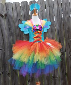 My Little Pony Rainbow Dash Inspired Tutu  (Design 3) with ears and wings