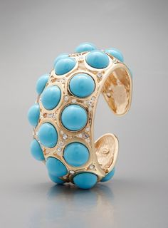 Cabochon Turquoise Stone Cuff