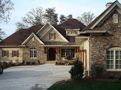 Love the colors and stone and cedar