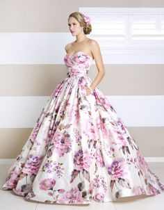 Wendy Makin For the bravest bride in town, Wendy Makin's statement printed floral gown, serves up head-to-toe drama. jaglady