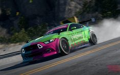 Download wallpapers 4k, Need For Speed Payback, Ford Mustang RTR, 2017 games, Noise Bomb, NFSP, autosimulator, Need For Speed