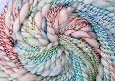Handspun Art Yarn - SUPERNOVA - Handpainted Ultrafine Merino/Superfine Merino/Silk blend, 140 yards, gift for weaver, handspun weft yarn by BlackSheepGoods on Etsy