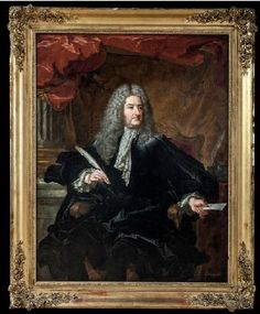 Portrait of Michael Robert Pelletier Forts (1675-1740) Oil on canvas. 148 x 114 cm in 1727 .