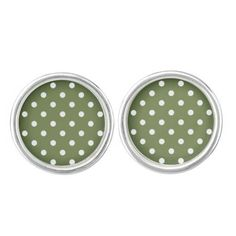 New Cufflinks in shop. Creative Cufflinks for lady : green with Dots. This is Original hand-drawn design. We are able to make unique earrings with illustration included. Vintage Cufflinks, Studs, Branding Design, Trending Outfits, Unique Jewelry, Creative, Bee, Glow, Dots