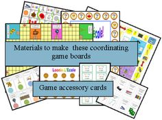 French games, gameboards and activities for FSL students and primary French immersion teachers.
