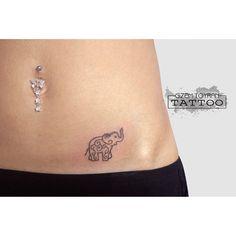 minimal elephant tattoo
