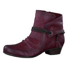 Warme Tamaris Zizania Stiefeletten im angedeuteten Lagenlook. Innen besitzen die Schuhe ein kuscheliges Warmfutter.  - Verschluss: Reißverschluss - praktische Zugschlaufe - weiches TOUCH-IT Fußbett - Schafthöhe an Gr. 37: ca. 11,5 cm - Schaftweite an Gr. 37: ca. 26 cm - Absatzart: Trichter - Absatzhöhe: ca. 2,5 cm  Obermaterial: Sonstiges Material (Synthetik) Futter: Textil, sonstiges Material ...