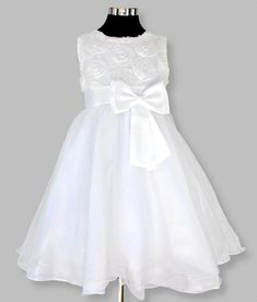 Girls white party, flower girl dress – Posh Tots Tea Length Dresses, Formal Dresses, Wedding Dresses, Rose Lace, Layered Skirt, Lace Bodice, Special Occasion Dresses, Chiffon, Flower Girl Dresses