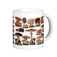 Vintage Mushroom Coffee Mugs