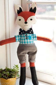 Shop for fox on Etsy, the place to express your creativity through the buying and selling of handmade and vintage goods. Fantastic Fox, Cute Plush, Cute Fox, Bear Doll, Heart For Kids, Crafty Craft, Baby Crafts, Baby Disney, Diy Toys