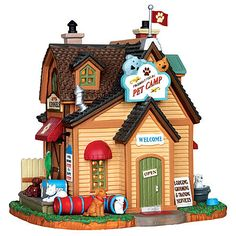Lemax Village Collection Harvest Crossing Friendly Fields Pet Camp Building