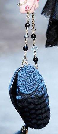 Dolce & Gabbana Miss Charles Crochet Handbag