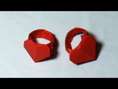 Origami Heart Ring tutorial - DIY (Henry Phạm) - YouTube
