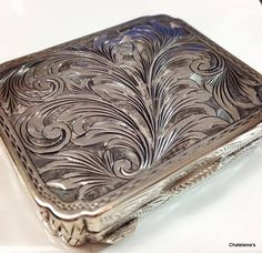 Marked 800 Italy, this antique box is the epitome of decadence. Used as a pill or snuff box, and marked H.B. by its maker, this dainty box is 2.5 inches by 2 inches by .75 inches; it is sure to fit ni