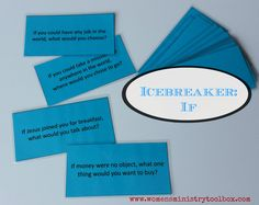 Icebreaker: If (Free Printable) - Print and cut these questions for a quick and easy icebreaker. #womensministry