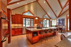 Troy Domier Builder / California Residence Reclaimed Wood from Reclaimed West Reclaimed wood, architecture, building, reclaimed beams, timbers, California homes  Trendy kitchen ideas