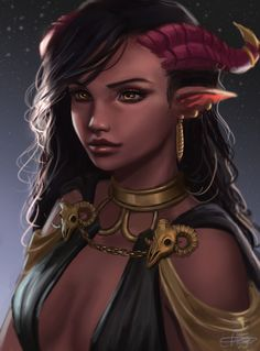 Image result for tiefling d&d character portraits