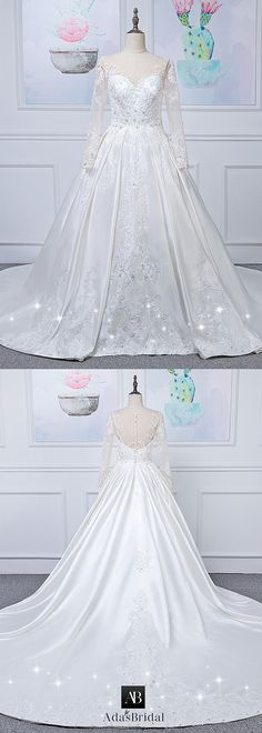 Marvelous Tulle & Satin Bateau Neckline Natural Waistline A-lien Wedding Dress With Beaded Lace Appliques