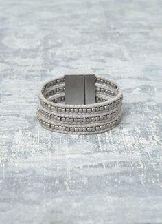 Triple Stud Strap Bracelet | Jewellery | MintVelvet