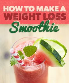 How to make a weight loss smoothie