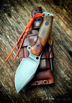 J. A. Voss – VCA Knives | Facas e bainhas artesanais Bushcraft Knives, Tactical Knives, Cool Knives, Knives And Swords, Knife Patterns, Diy Knife, Types Of Knives, Kydex Sheath, Neck Knife