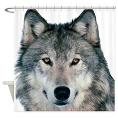 The alfa Wolf Shower Curtain on CafePress.com