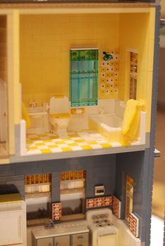 DSC_0103   Flickr: partage de photos! Lego Building, Building A House, Lego Bathroom, Cottage Restaurant, Lego Furniture, Lego Construction, Lego Room, Lego Architecture, Lego House