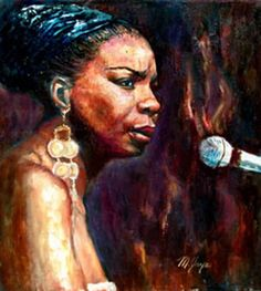 Nina Simone - You Don't Know What Love Is - her other song: Young, Gifted and Black Jazz Artists, Black Artists, African American Art, African Art, Black Artwork, Afro Art, My Black Is Beautiful, What Is Love, Art Music